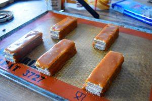 Caramel beurre salé sur gaufrettes
