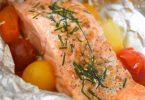 Papillote de saumon et tomates cerises