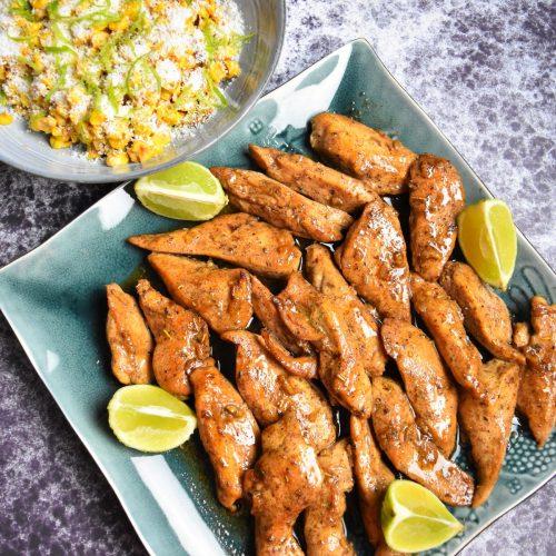 Poulet épicé et salade de maïs de Cyril Lignac