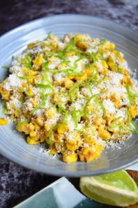 Maïs épicé à la coco et citron vert