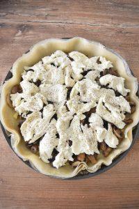 Tarte aux champignons et mozzarella