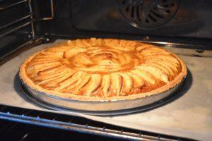 Cuisson de tarte aux pommes