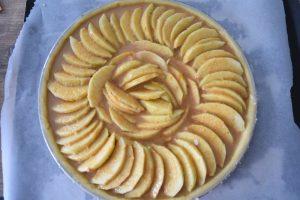 Tarte aux pommes et crème amande