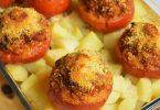 Tomates farcies et pommes de terre