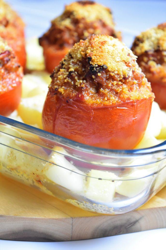 Tomate farcie à la chair à saucisse