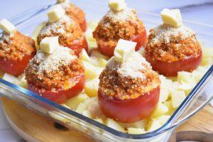Tomates farcies aux pommes de terre