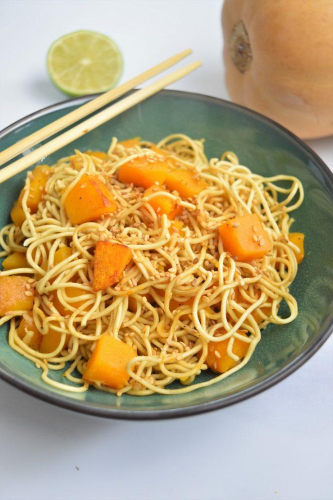 Nouilles chinoises au butternut