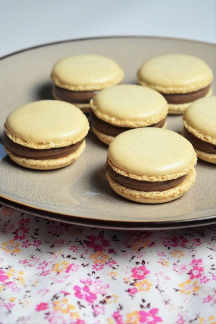 Macarons chocolat noisette