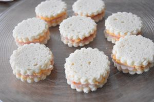 Mini croques jambon fromage