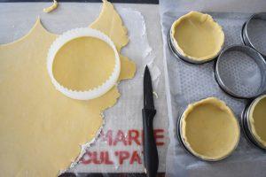 Fonçage des cercles à tartelettes