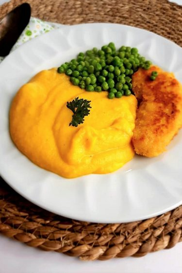 Purée de butternut, fromage frais et curcuma au Companion