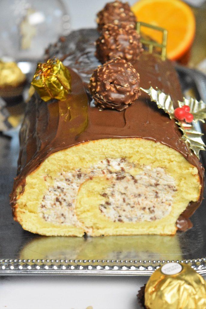 Bûche roulée au Ferrero et Nutella