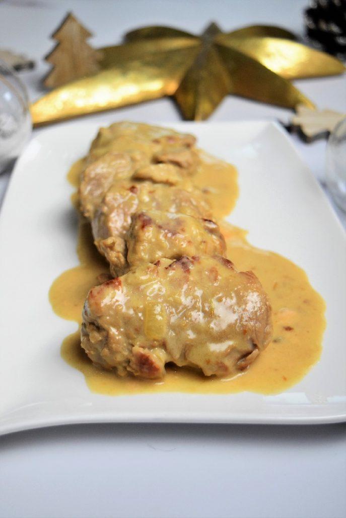 Filet mignon de porc au maroilles au cookeo