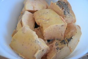Foie gras mariné au cognac