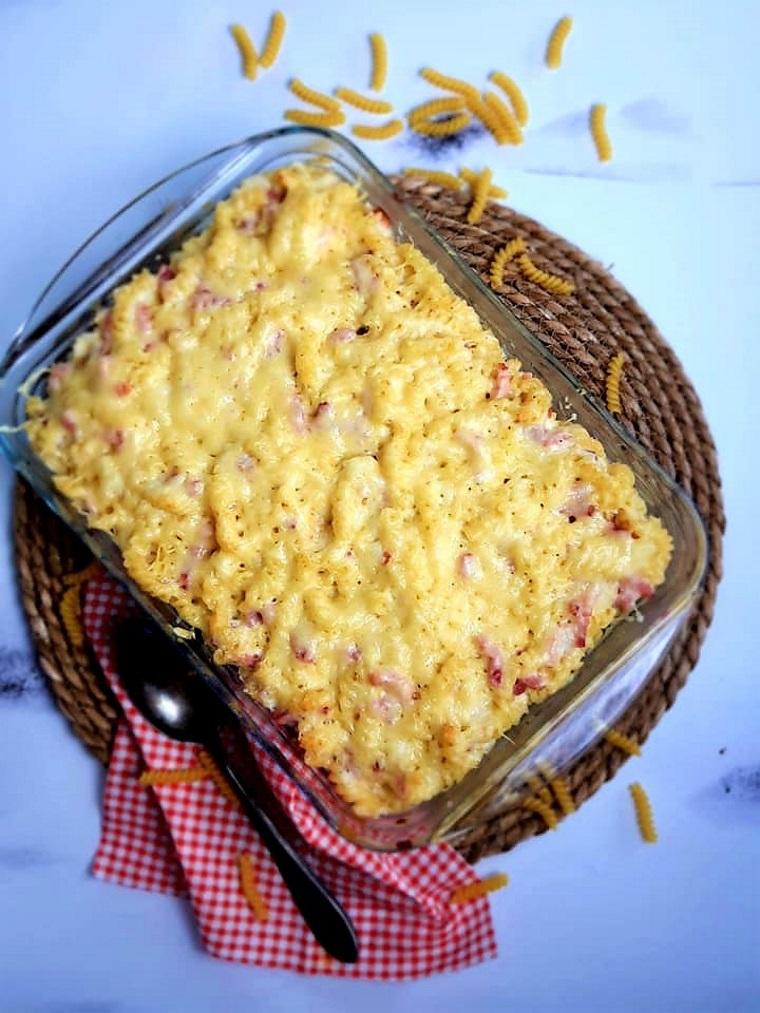Gratin de pâtes facile au fromage blanc