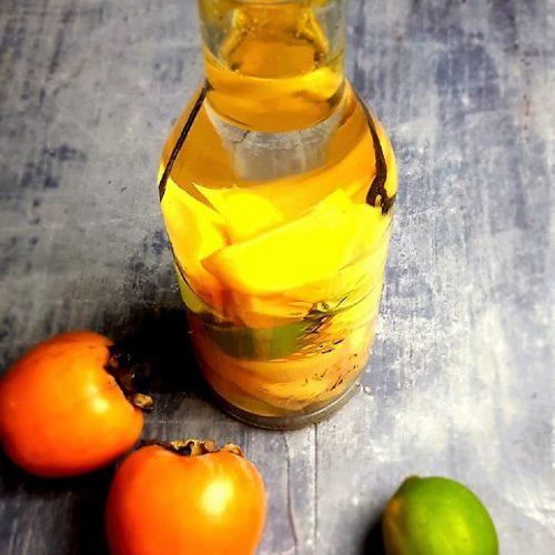 Rhum arrangé kaki citron vert vanille