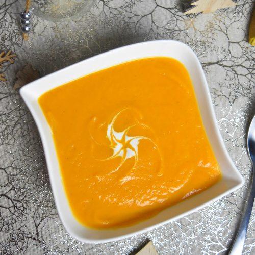 Velouté de patate douce et carotte au companion