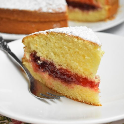 Gâteau à la confiture de fraises