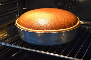 Cuisson de la tarte au fromage blanc