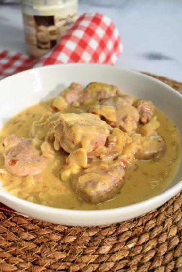 Filet mignon de porc sauce reblochon