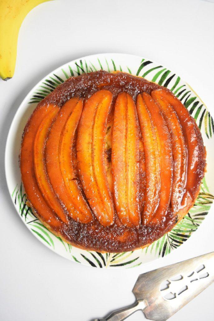 Gâteau aux bananes et caramel