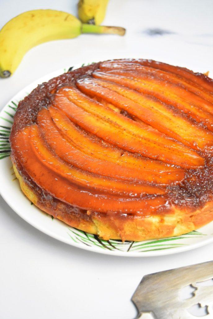 Gâteau renversé banane caramel