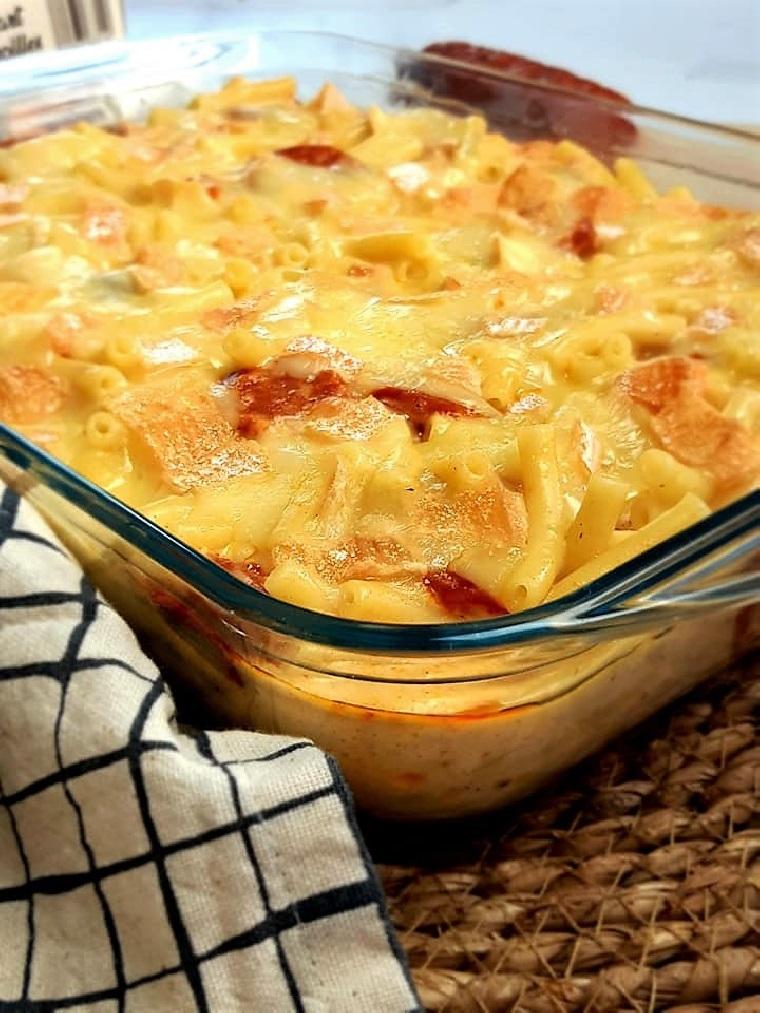Macaroni chorizo maroilles