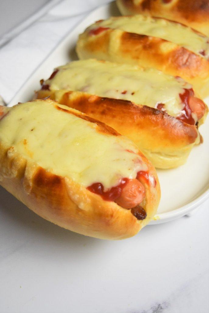 Hot dog maison au fromage
