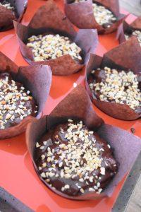 Muffins chocolat et noisette