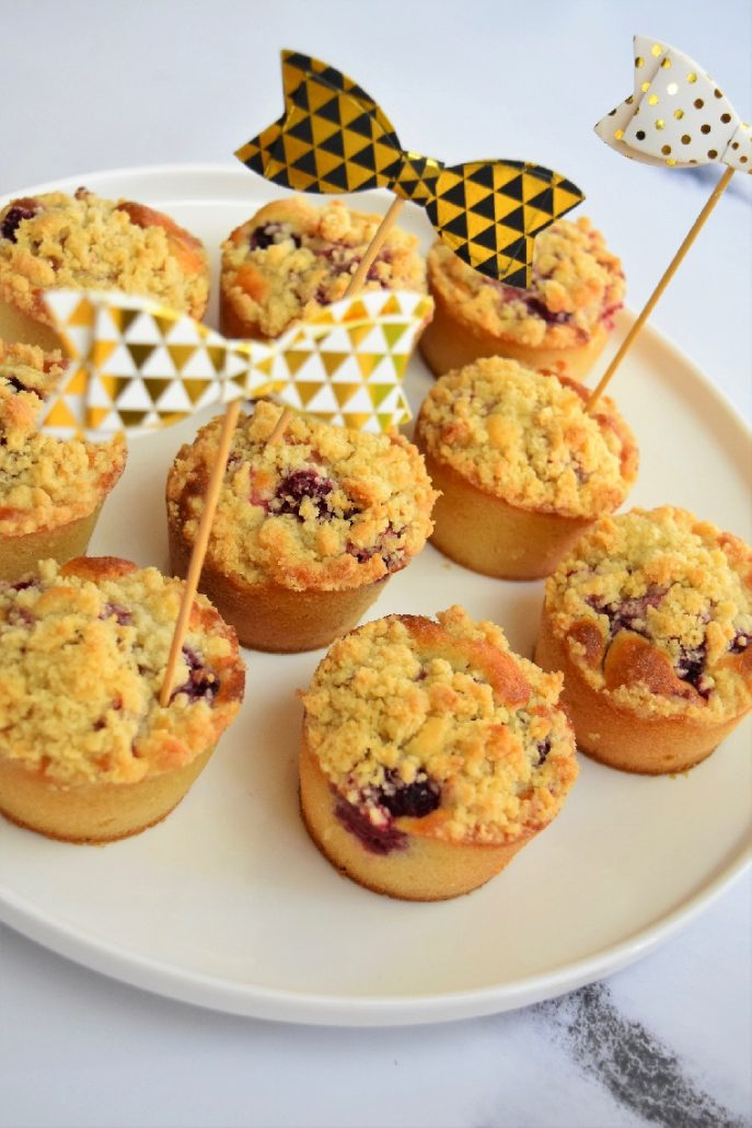Muffins façon crumble aux framboises