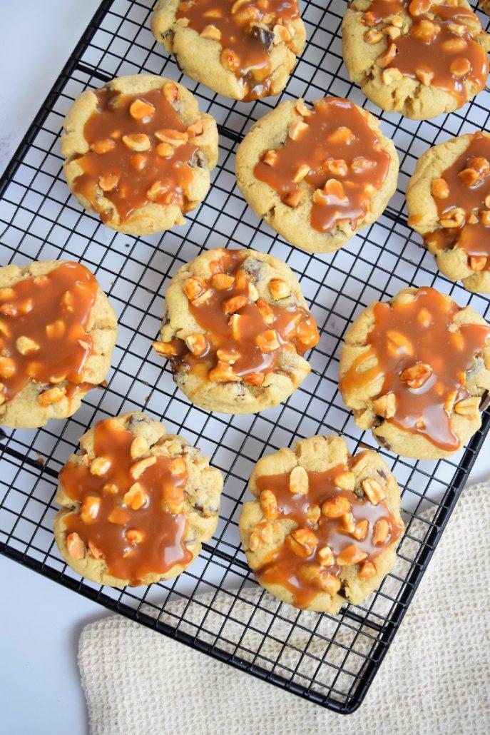 Cookies caramel, cacahuètes