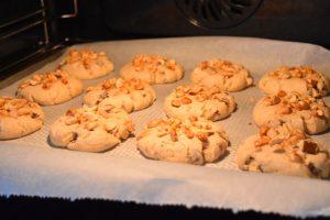 Cuisson des cookies cacahuète