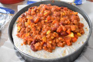 Lasagnes façon mexicaine, au chili