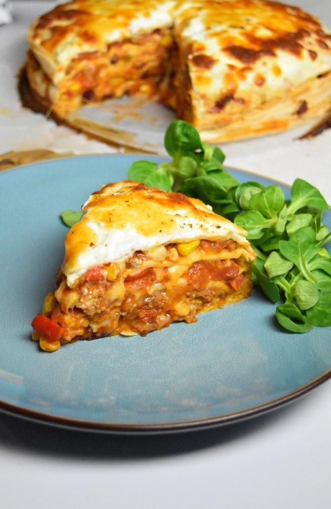 Lasagnes au chili et wraps