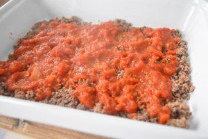 Boeuf haché et sauce tomate