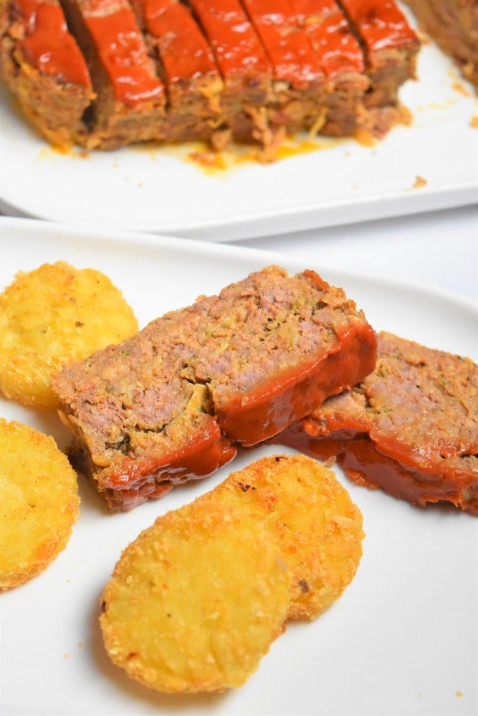 Pain de viande au boeuf et glaçage tomate