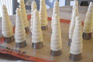Cornets avec cônes en inox