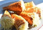 Cornets feuilletés à la béchamel, poulet et fromage