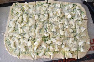 Rectangles de pâte