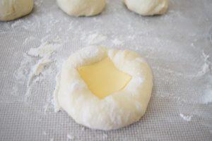 Puits moelleux au fromage gouda