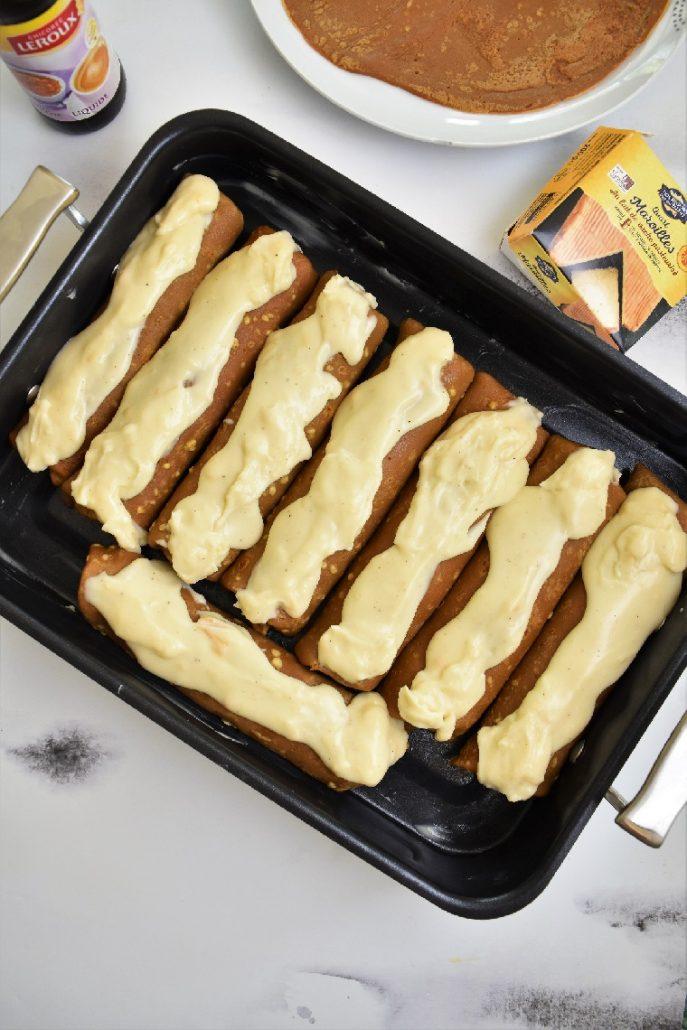 Crêpes au jambon, béchamel au maroilles