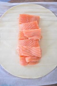 Pâte feuilletée et saumon