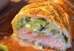 Feuilleté de saumon et poireaux au Companion