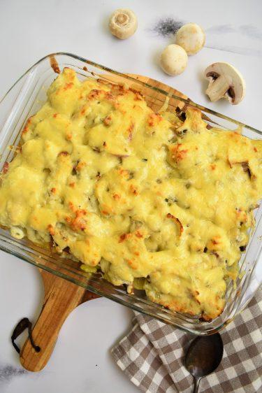 Gratin de pommes de terre au fromage ail et fine sherbes