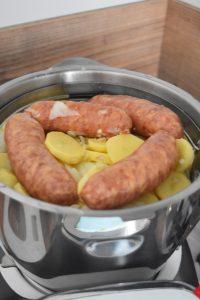 diots et pommes de terre en cuisson vapeur