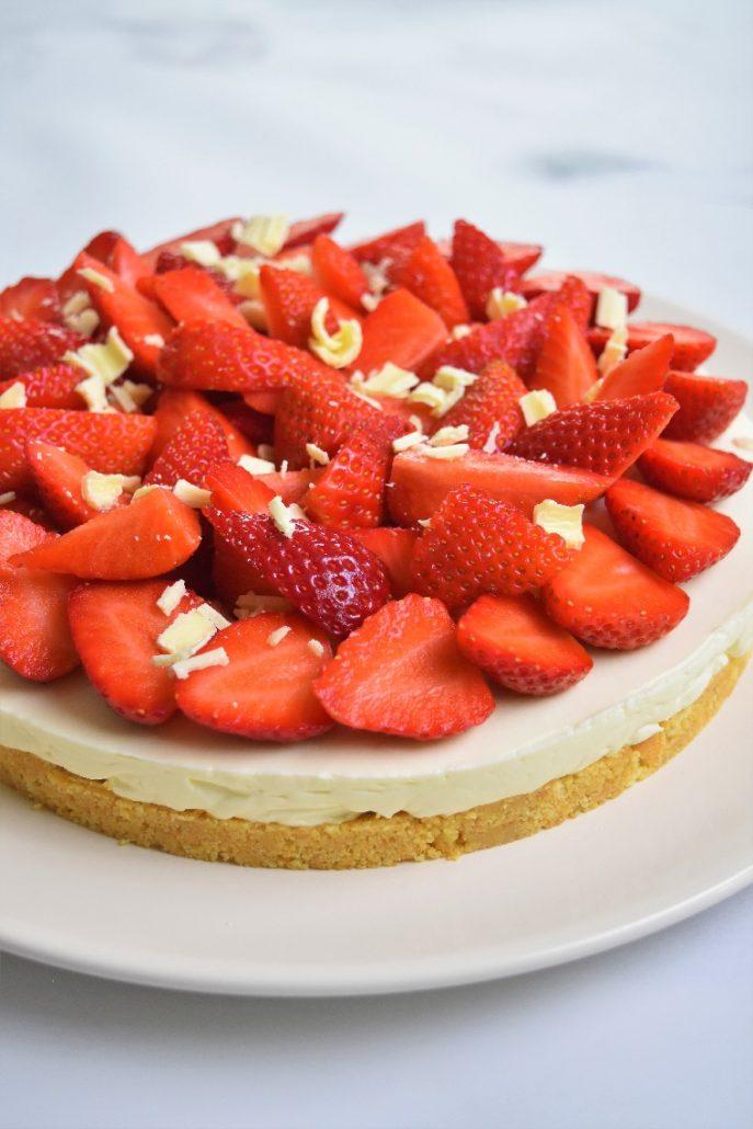Tarte aux fraises à la chantilly mascarpone