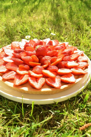 Tarte aux fraises à la crème pâtissière
