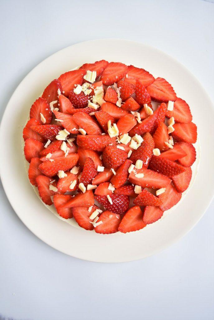 Tarte sans cuisson aux fraises