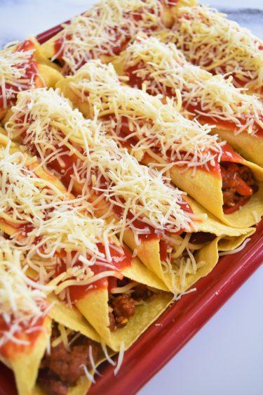 Tortillas au chili con carne