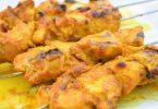 Brochettes de pouletau curry pour barbecue